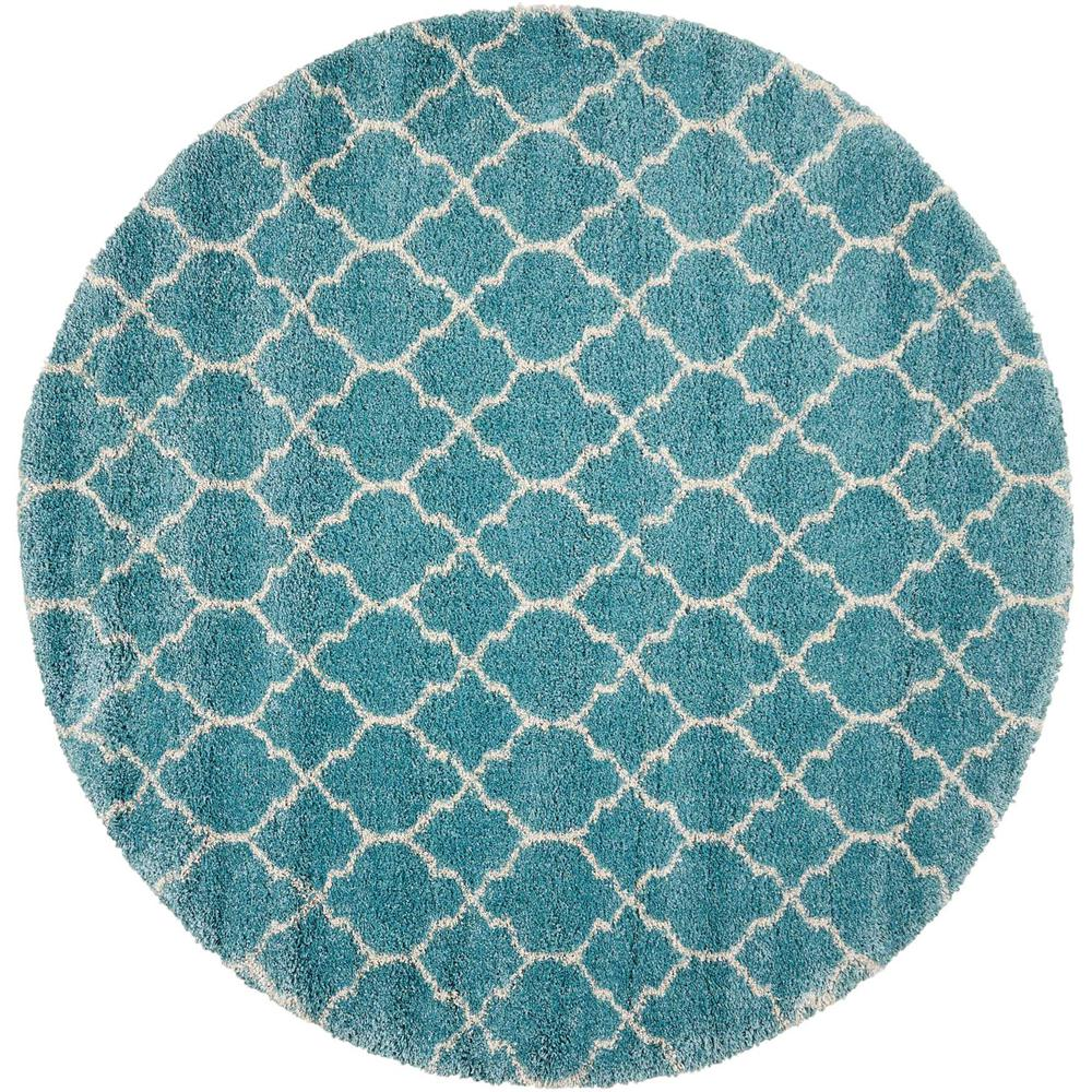"Amore Area Rug, Aqua, 7'10"" x ROUND. The main picture."