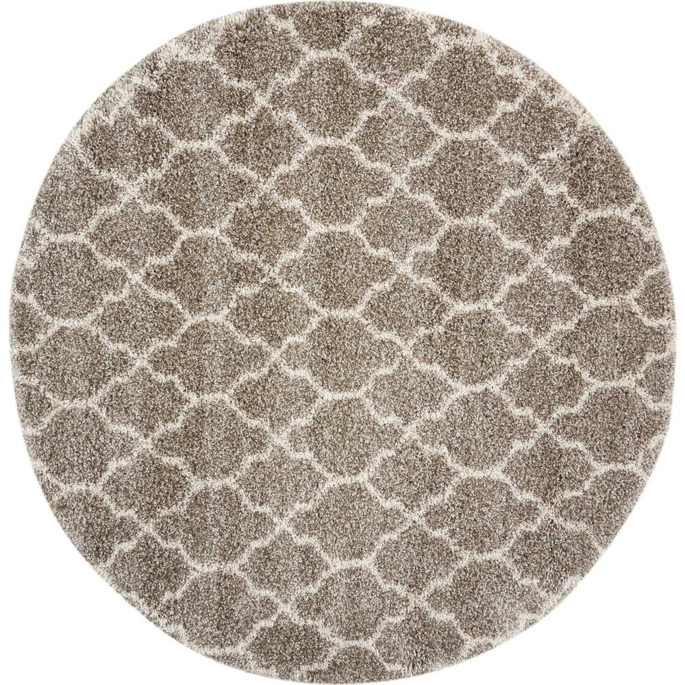 """Amore Area Rug, Stone, 6'7"""" x ROUND. Picture 1"""