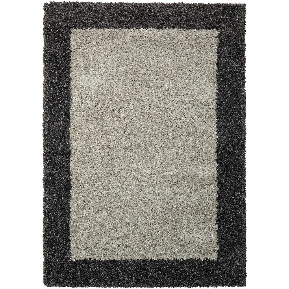 "Amore Area Rug, Silver/Charcoal, 7'10"" x 10'10"". The main picture."