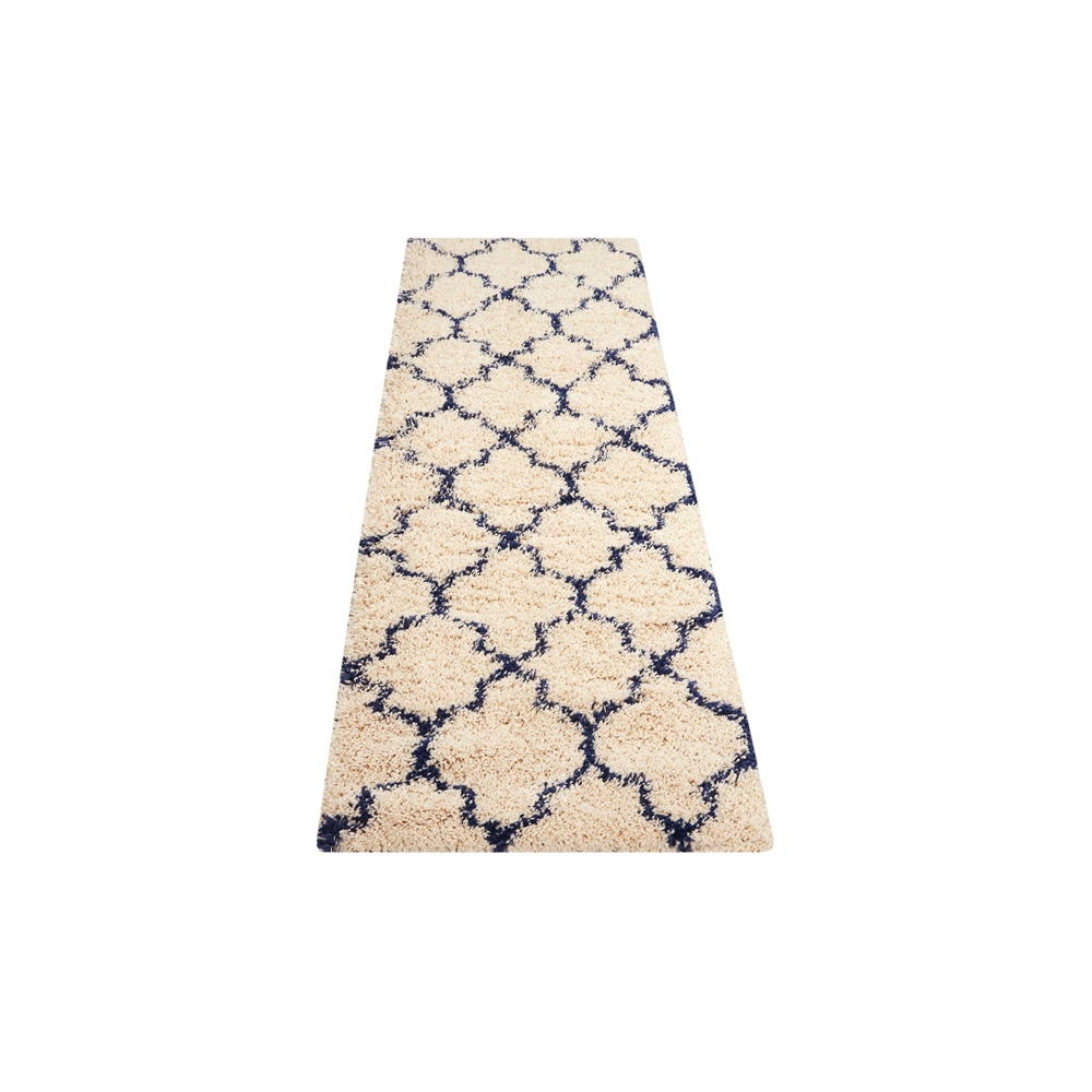"""Amore Area Rug, Ivory/Blue, 2'2"""" x 7'6"""". Picture 5"""