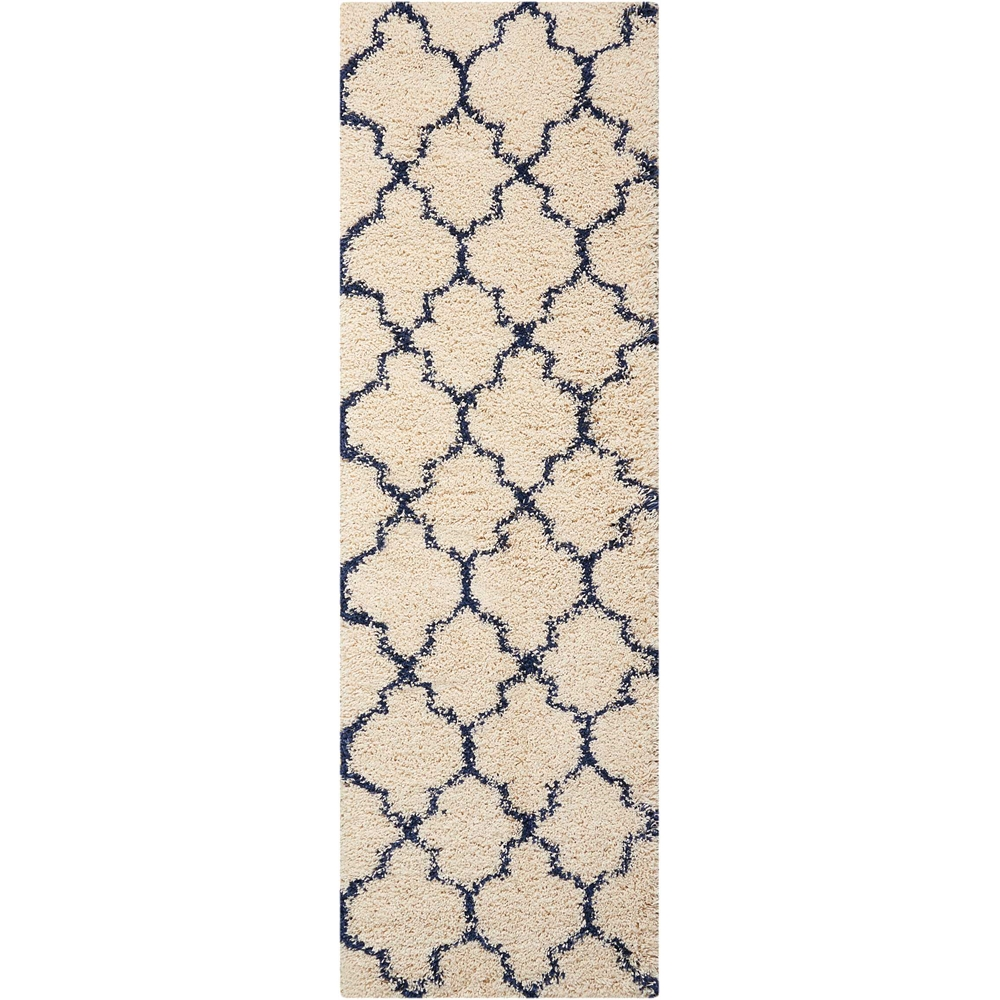 """Amore Area Rug, Ivory/Blue, 2'2"""" x 7'6"""". Picture 1"""