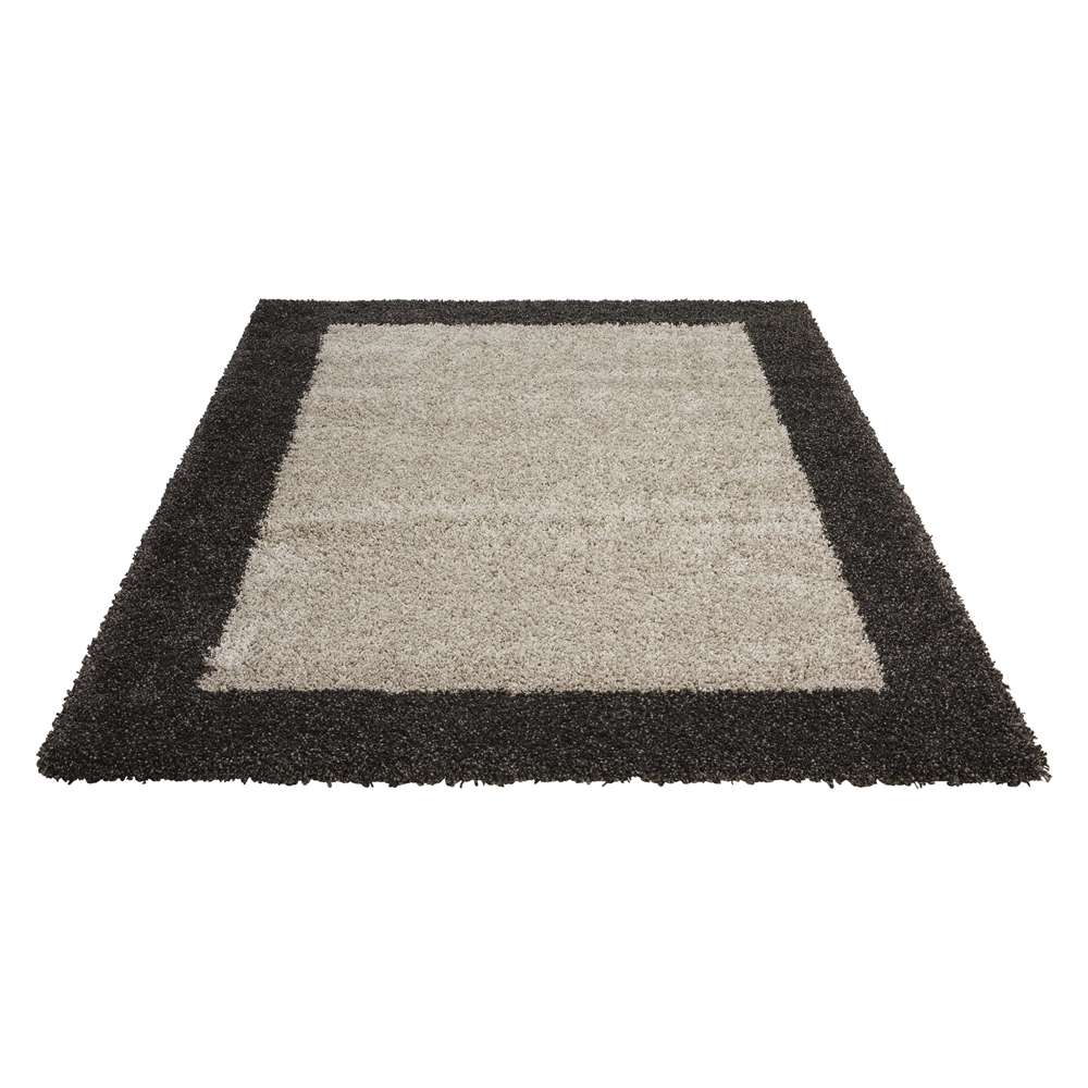 "Amore Area Rug, Silver/Charcoal, 5'3"" x 7'5"". Picture 7"