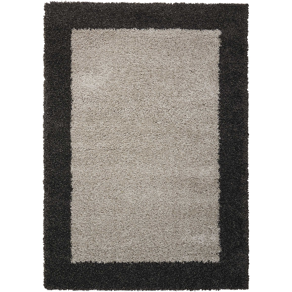 "Amore Area Rug, Silver/Charcoal, 5'3"" x 7'5"". Picture 1"