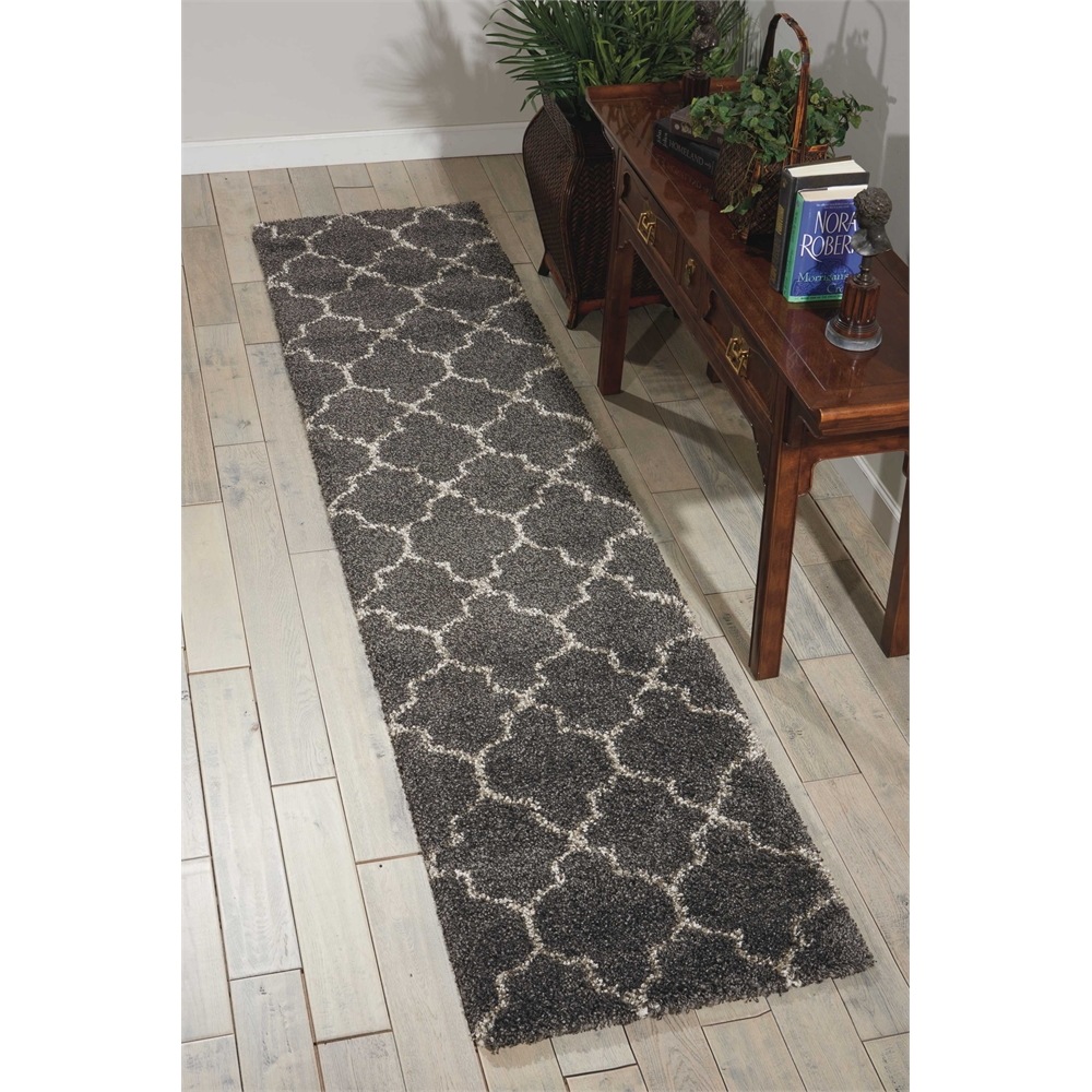 """Amore Area Rug, Charcoal, 2'2"""" x 10'. Picture 6"""