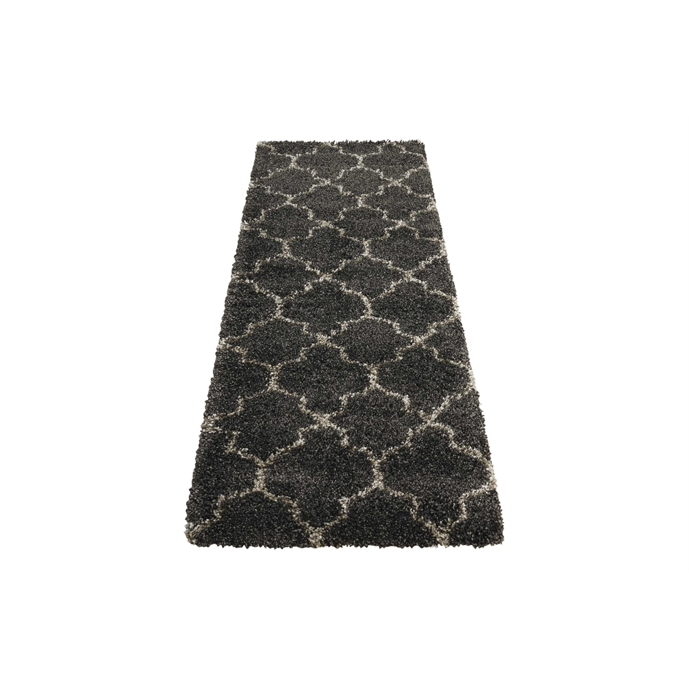 """Amore Area Rug, Charcoal, 2'2"""" x 7'6"""". Picture 5"""