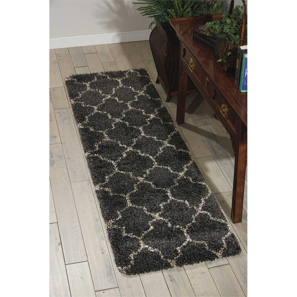 """Amore Area Rug, Charcoal, 2'2"""" x 7'6"""". Picture 6"""