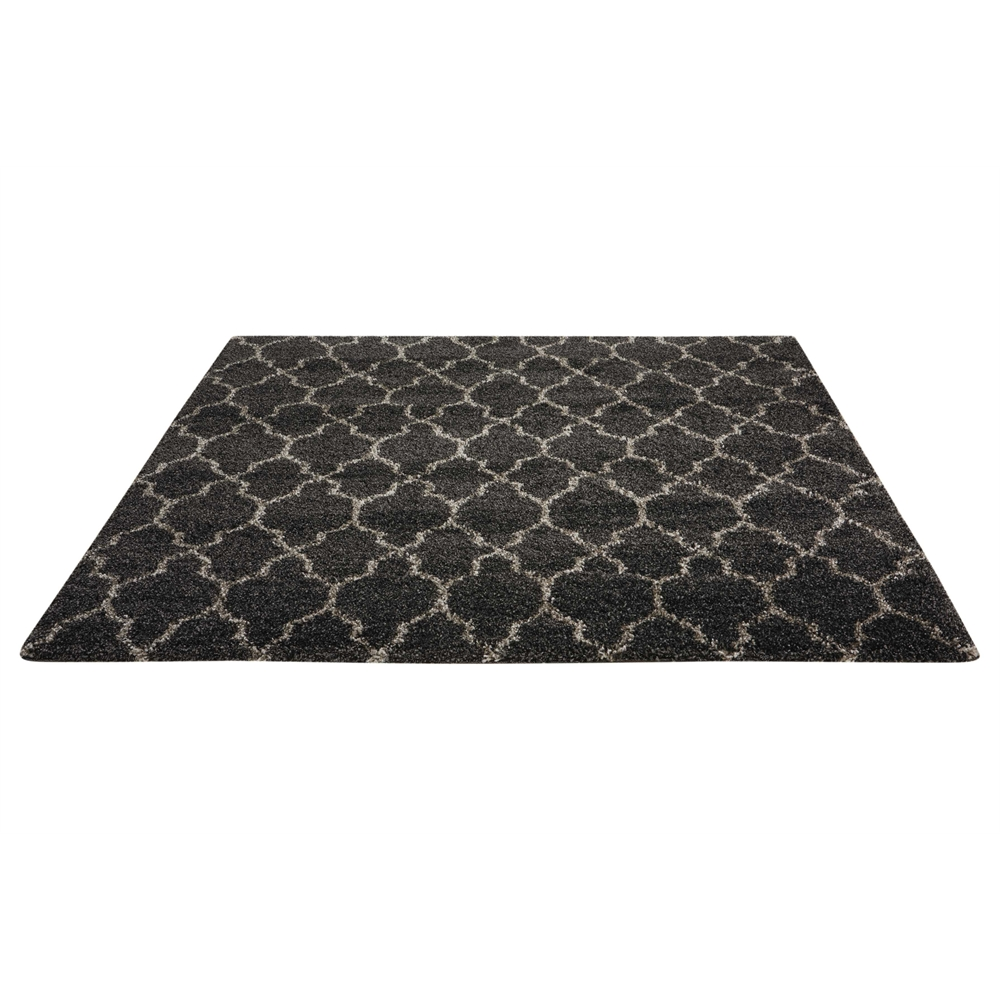 """Amore Area Rug, Charcoal, 6'7"""" x 6'7"""". Picture 5"""