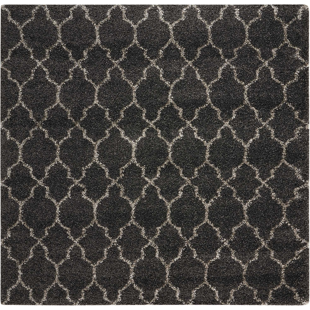 """Amore Area Rug, Charcoal, 6'7"""" x 6'7"""". Picture 1"""