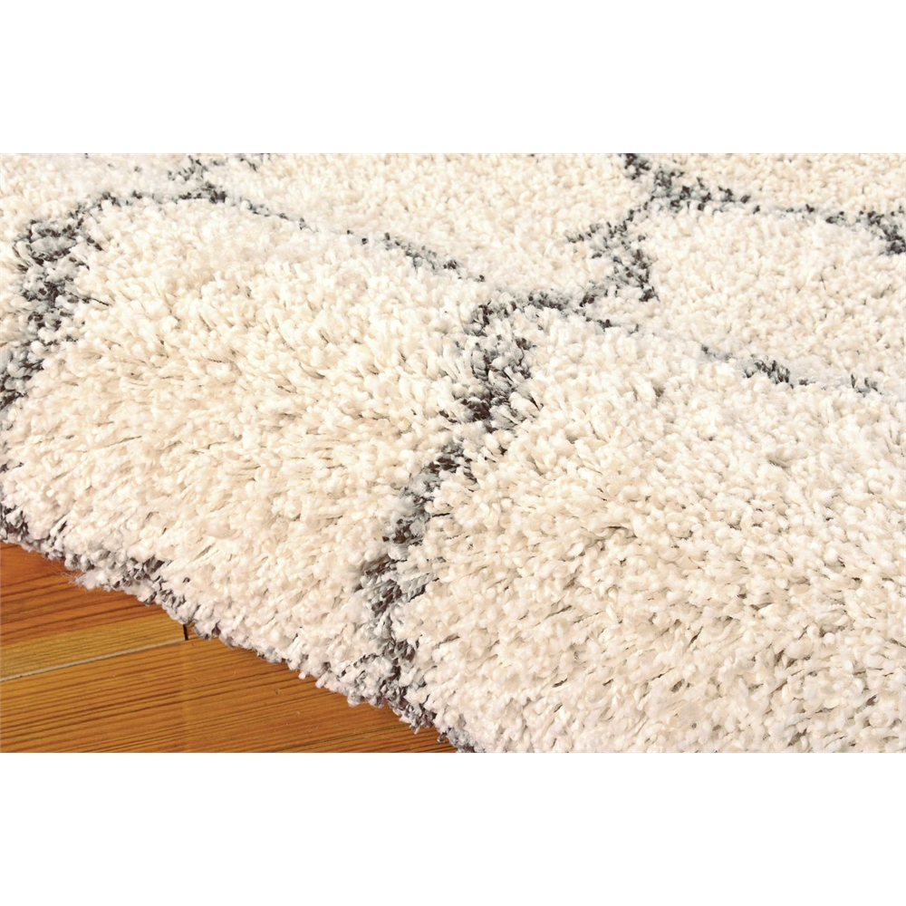 Amore cream shag area rug for Office shag
