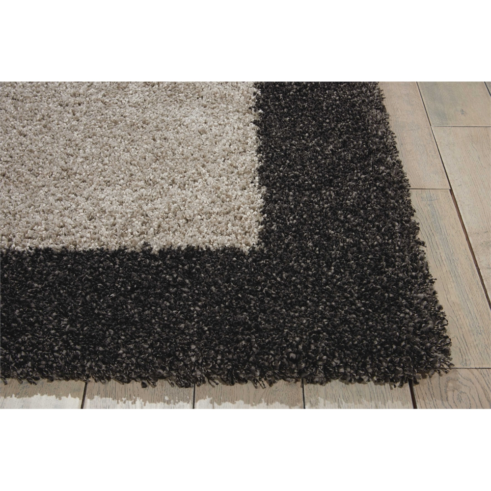 "Amore Area Rug, Silver/Charcoal, 5'3"" x 7'5"". Picture 2"