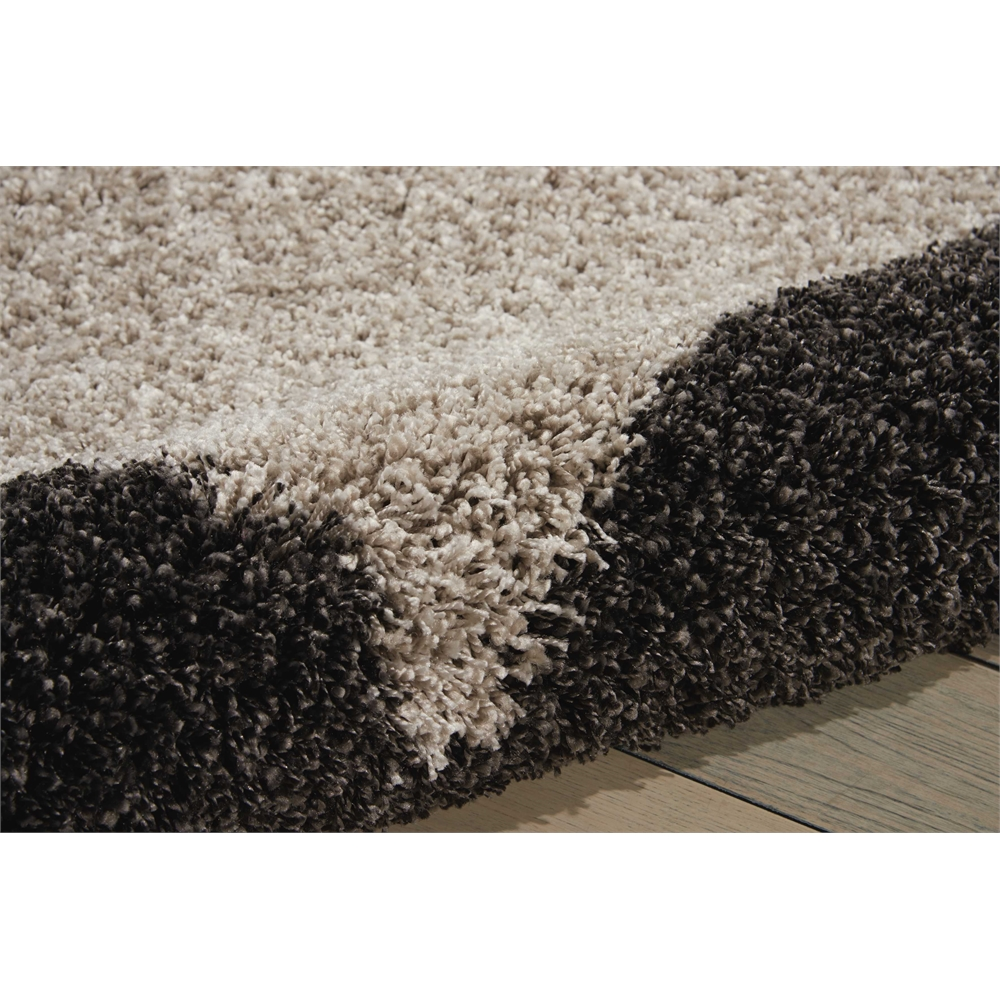"Amore Area Rug, Silver/Charcoal, 5'3"" x 7'5"". Picture 4"