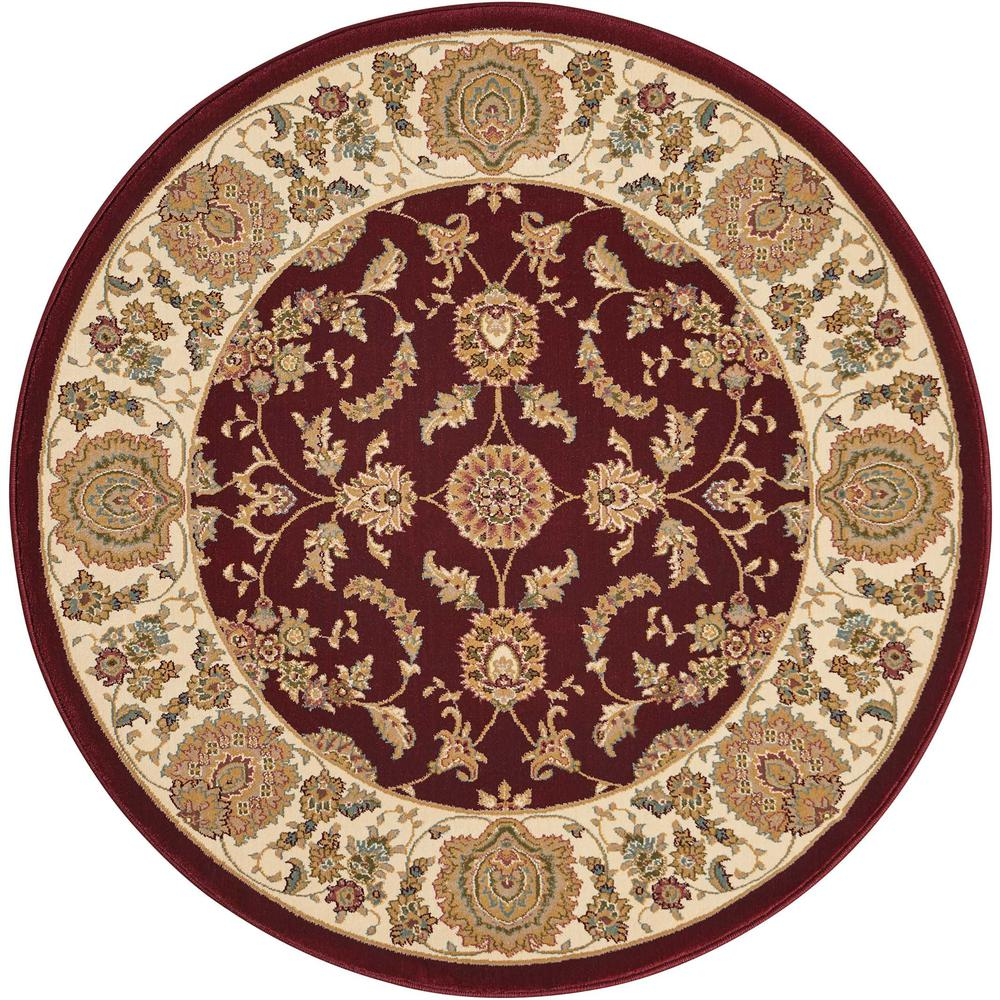 "Antiquities Area Rug, Garnet, 3'9"" x ROUND. Picture 1"
