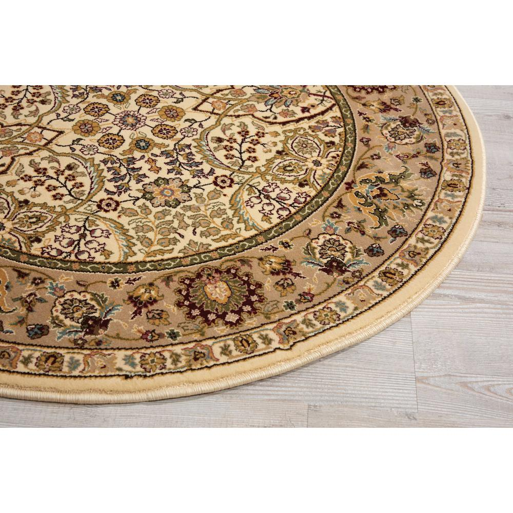 "Antiquities Area Rug, Ivory, 3'9"" x ROUND. Picture 3"