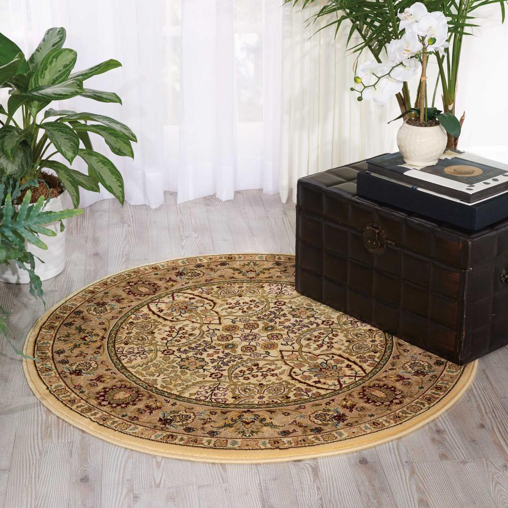 "Antiquities Area Rug, Ivory, 3'9"" x ROUND. Picture 2"