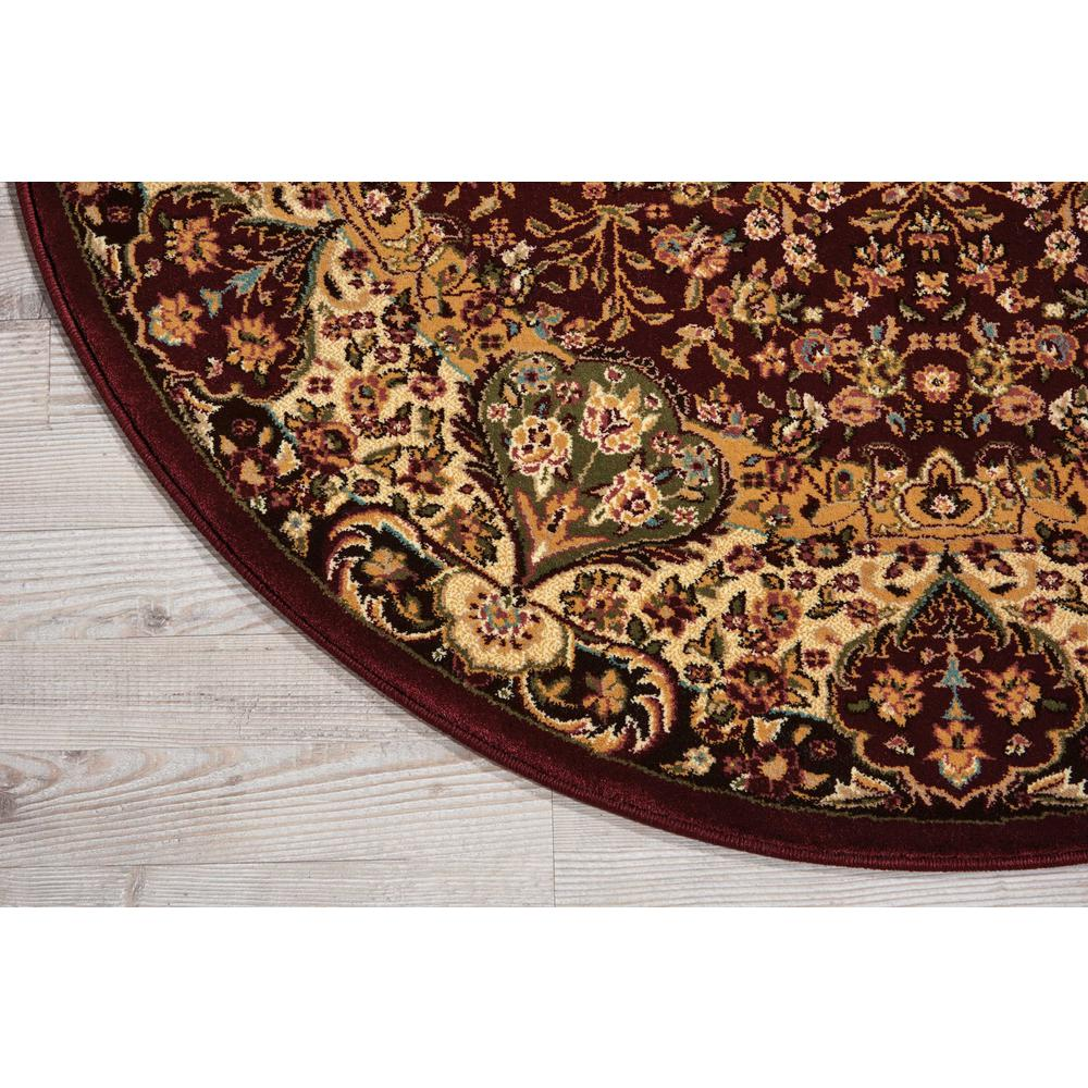 "Antiquities Area Rug, Burgundy, 3'9"" x ROUND. Picture 4"
