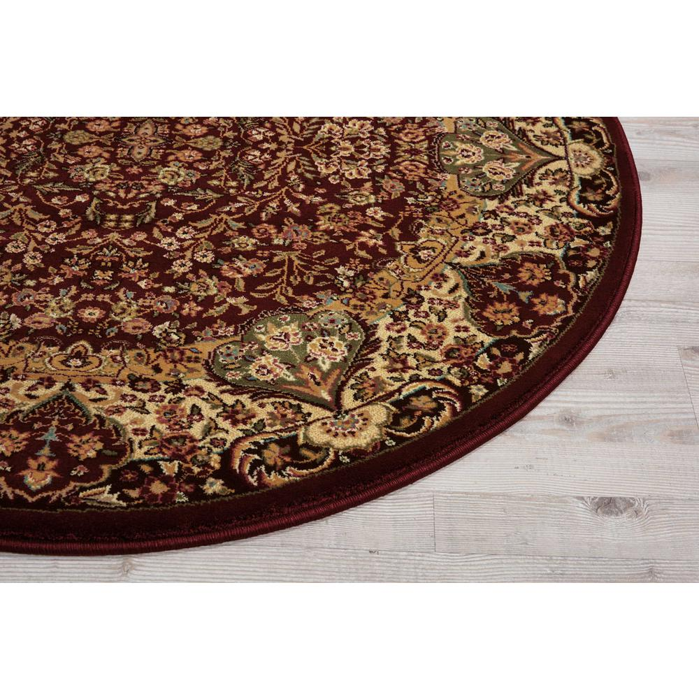"Antiquities Area Rug, Burgundy, 3'9"" x ROUND. Picture 3"