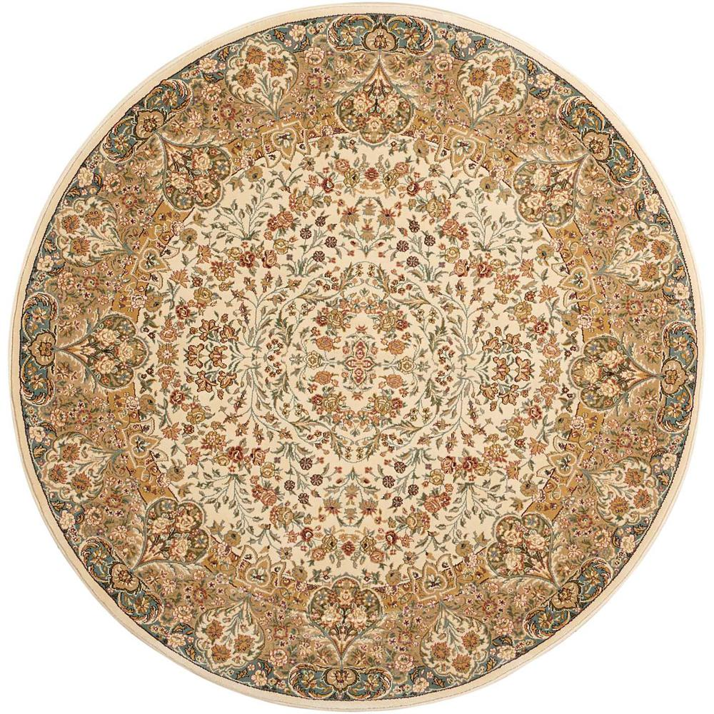 "Antiquities Area Rug, Ivory, 5'3"" x ROUND. Picture 1"