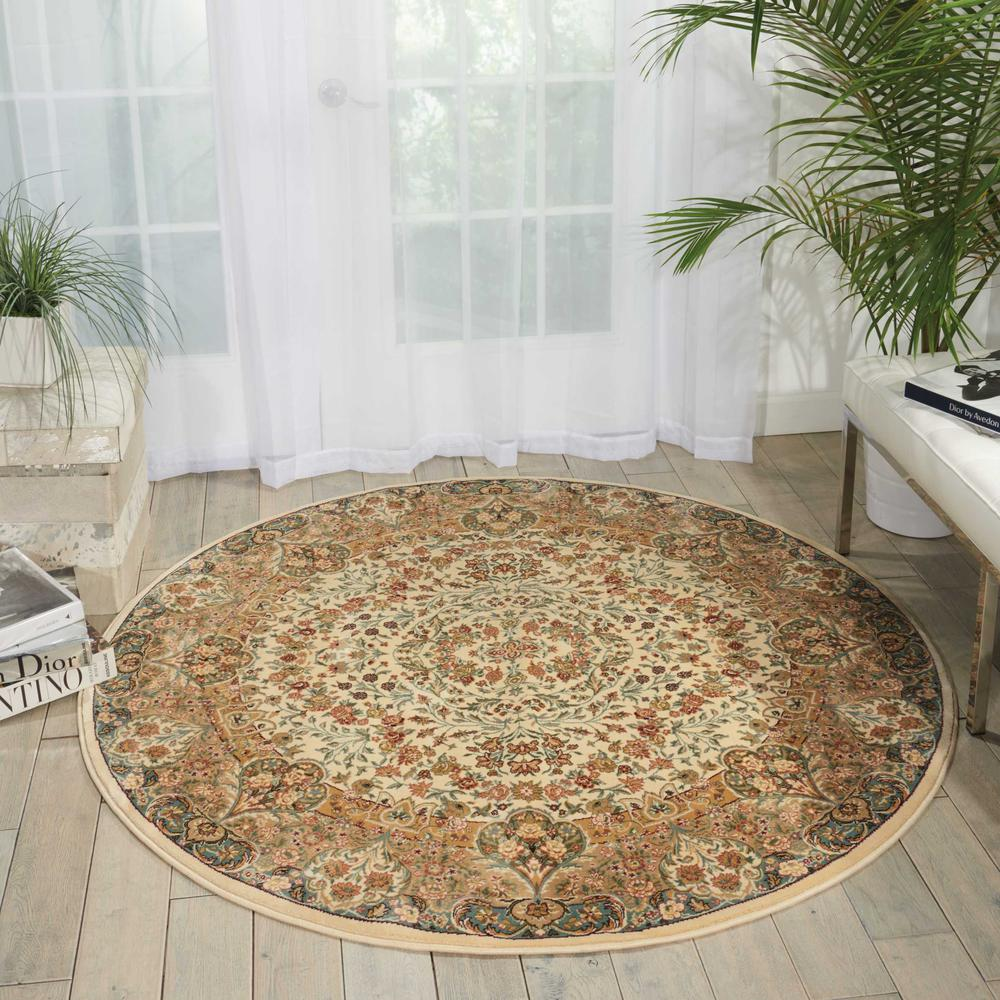 "Antiquities Area Rug, Ivory, 5'3"" x ROUND. Picture 2"