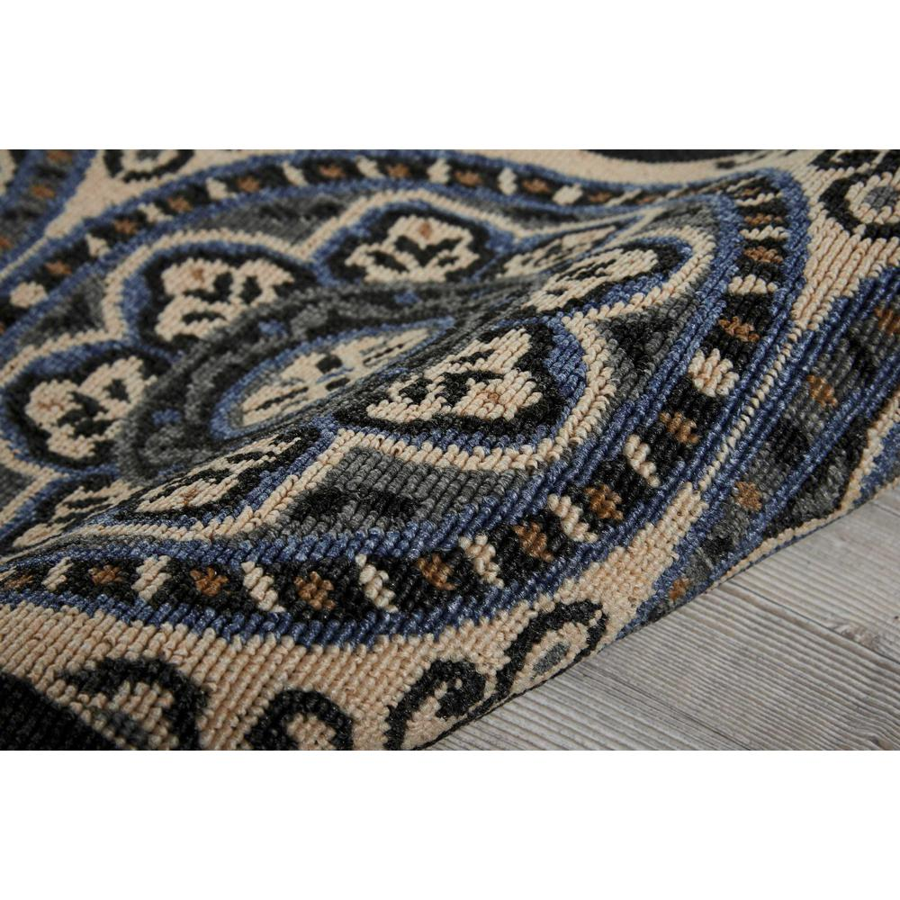 """Caribbean Area Rug, Ivory/Charcoal, 1'9"""" x 2'9"""". Picture 3"""