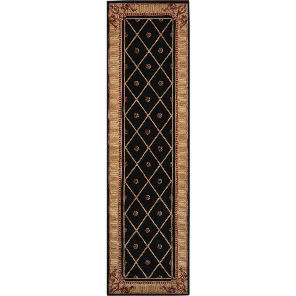 "Ashton House Area Rug, Black, 2' x 5'9"". Picture 1"