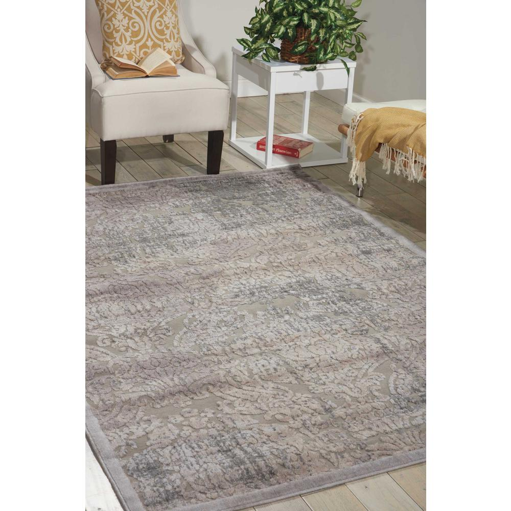"Graphic Illusions Area Rug, Grey, 6'7"" x 9'6"". Picture 4"