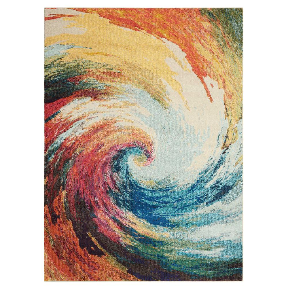 "Celestial Area Rug, Wave, 5'3"" x 7'3"". Picture 8"
