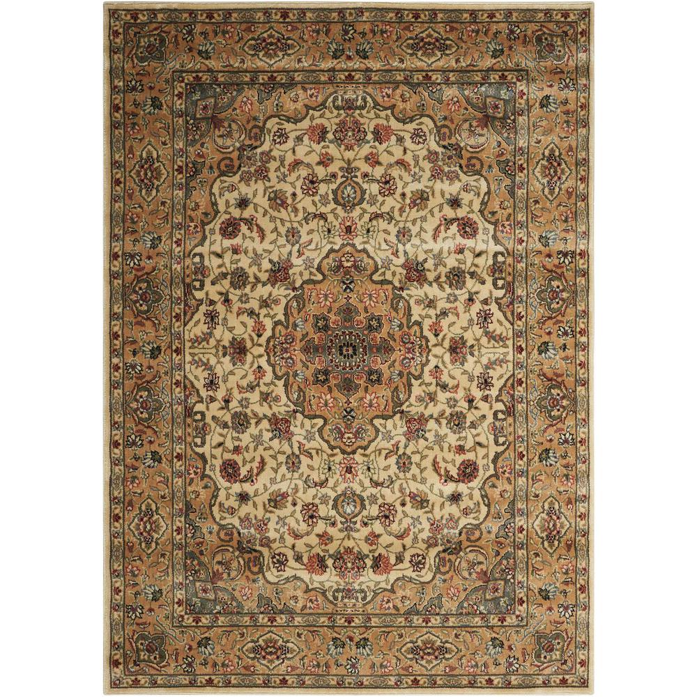 Nourison Persian Arts Ivory/Gold Area Rug. Picture 1