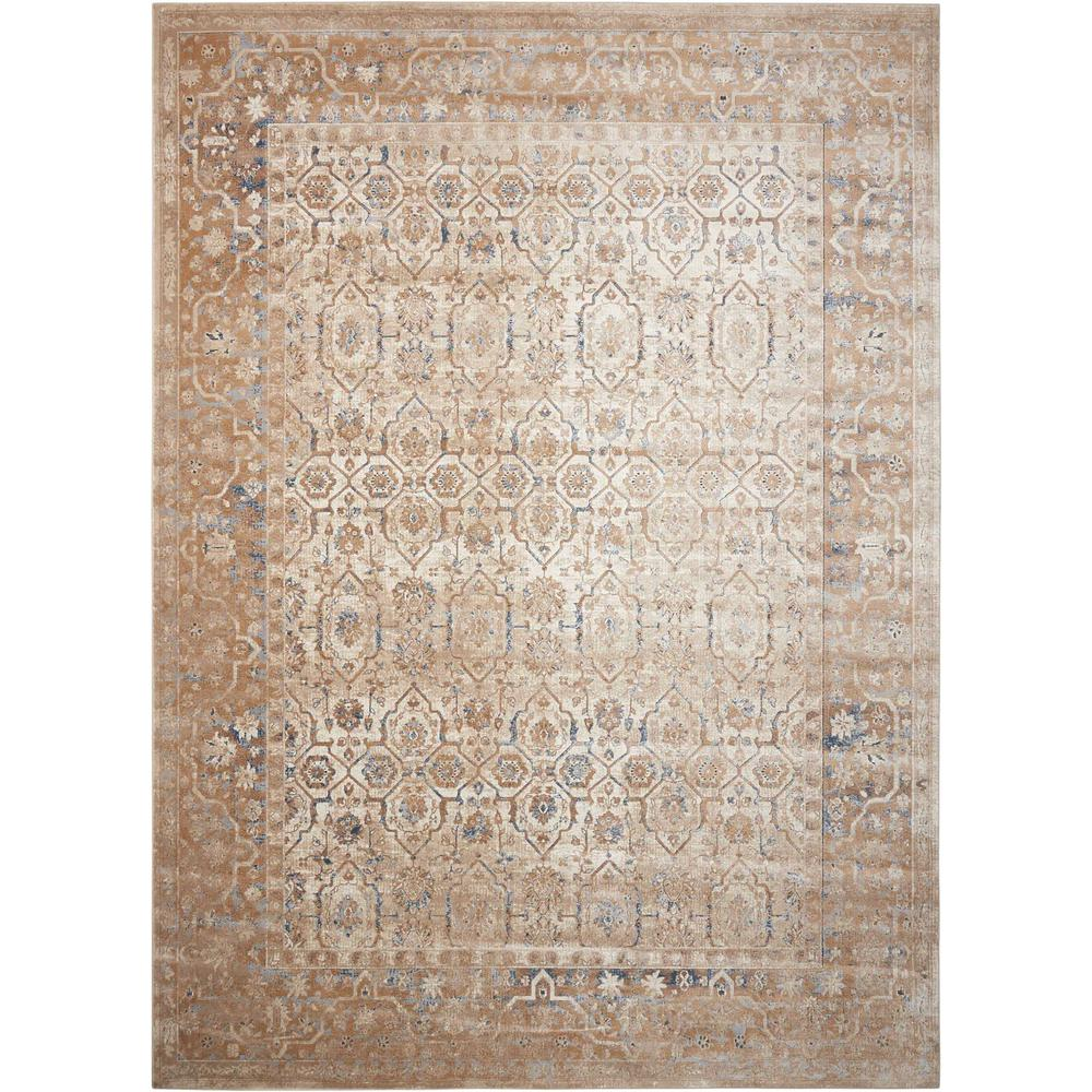 KI25 Malta Area Rug, Taupe, 9' x 12'. The main picture.