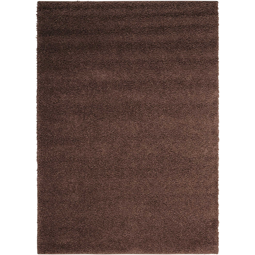 Bonita Brown Shag Area Rug. Picture 1