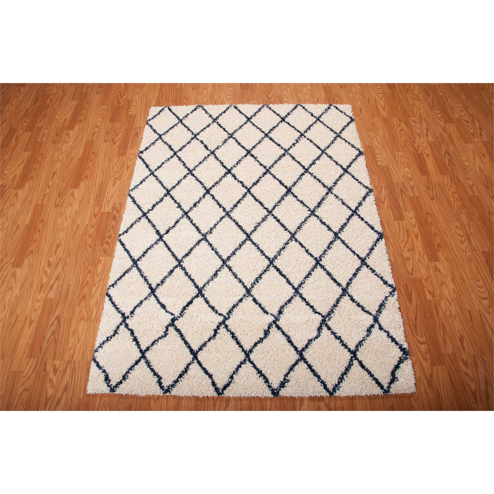 Brisbane Area Rug, Ivory/Blue, 5' x 7'. Picture 2