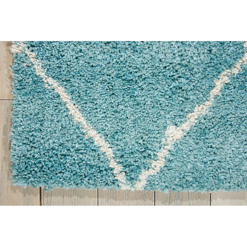 Brisbane Area Rug, Aqua, 5' x 7'. Picture 2