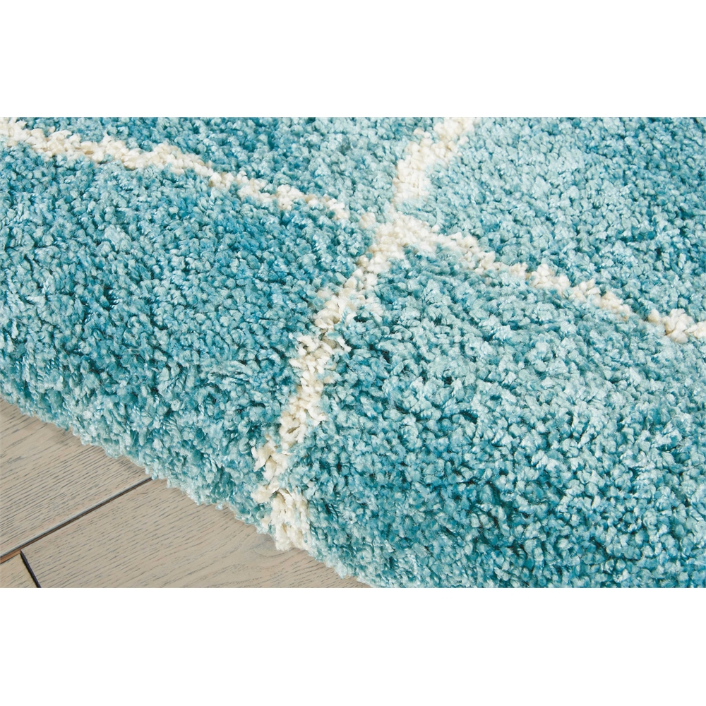 Brisbane Area Rug, Aqua, 5' x 7'. Picture 4