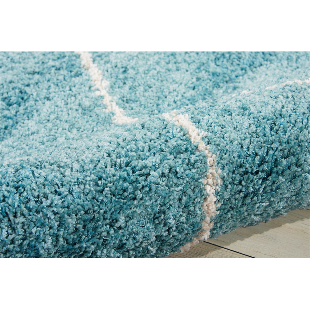 Brisbane Area Rug, Aqua, 5' x 7'. Picture 6