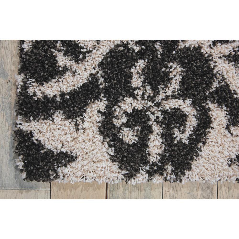 Brisbane Black/White Shag Area Rug. Picture 2