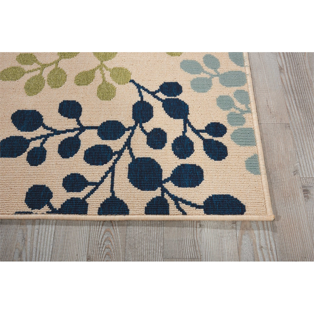 """Caribbean Area Rug, Ivory, 2'3"""" x 7'6"""". Picture 2"""