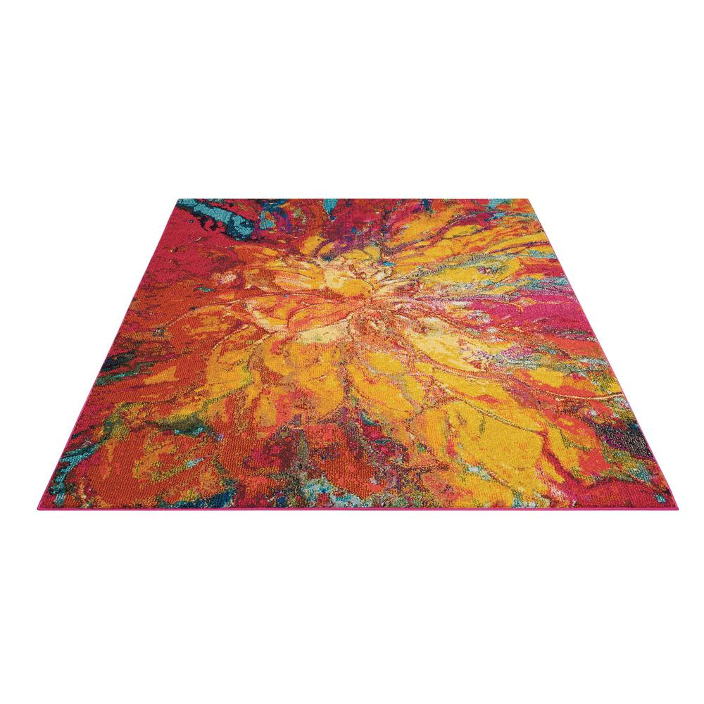 "Celestial Area Rug, Cayenne, 3'11"" x 5'11"". Picture 3"