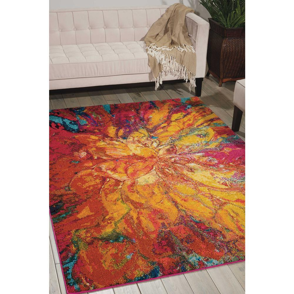 "Celestial Area Rug, Cayenne, 3'11"" x 5'11"". Picture 2"