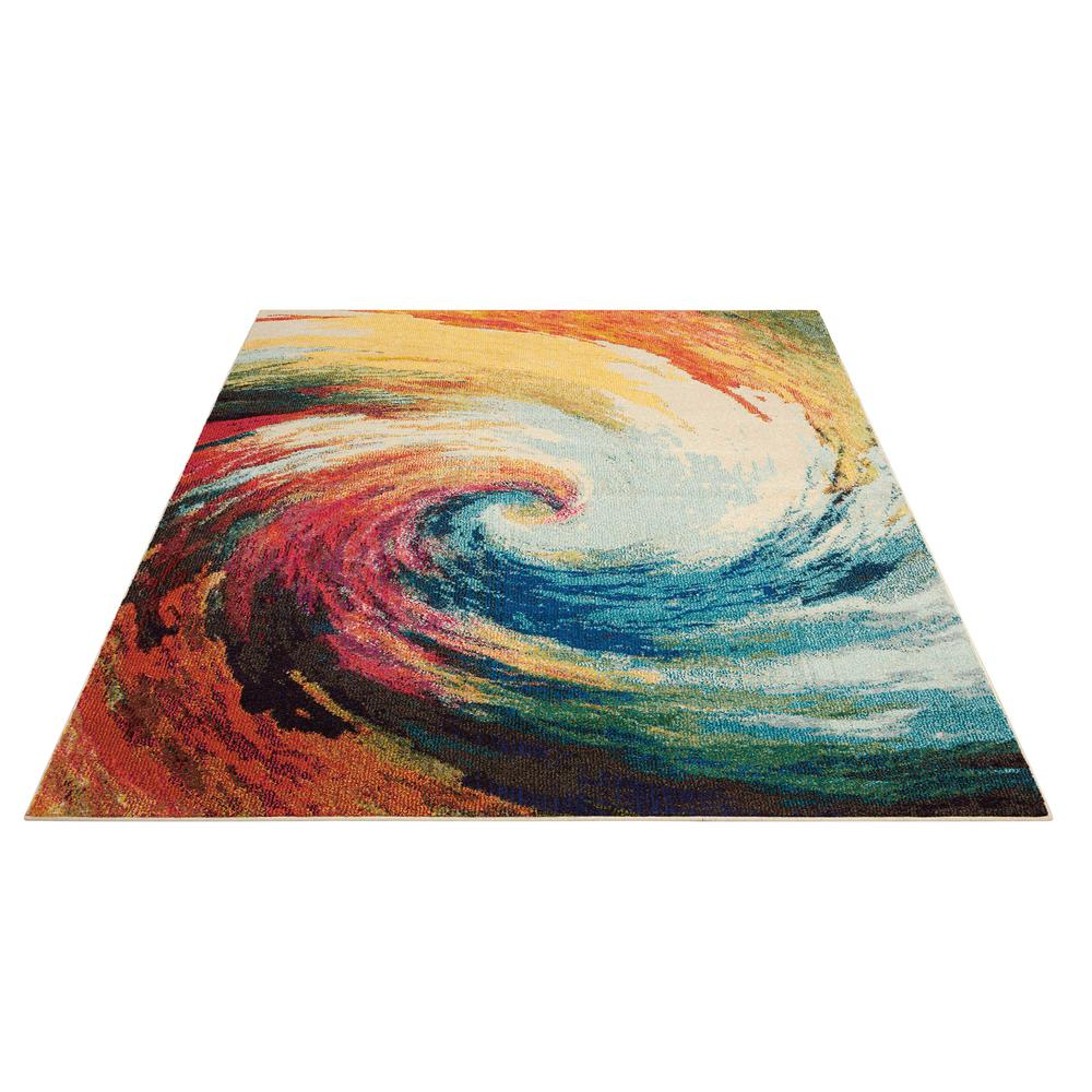 "Celestial Area Rug, Wave, 5'3"" x 7'3"". Picture 3"