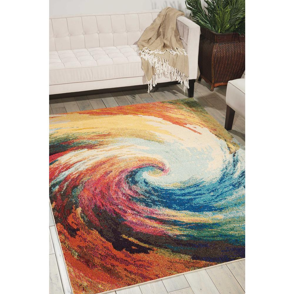 "Celestial Area Rug, Wave, 5'3"" x 7'3"". Picture 2"