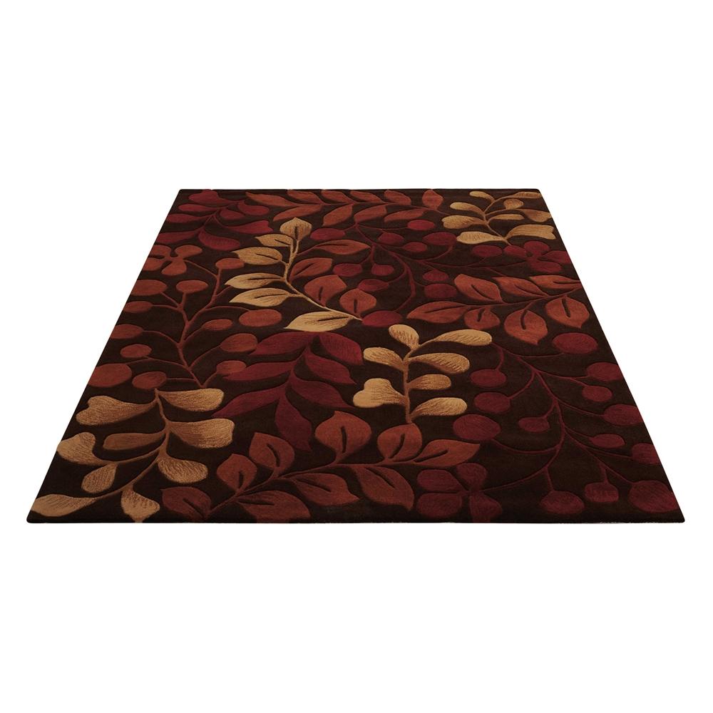 "Contour Area Rug, Chocolate, 5' x 7'6"". Picture 5"