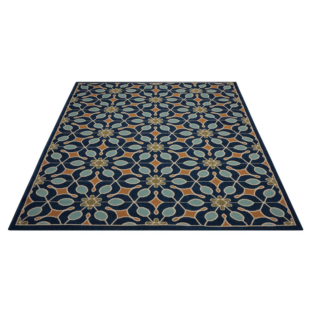 """Caribbean Area Rug, Navy, 2'6"""" x 4'. Picture 3"""