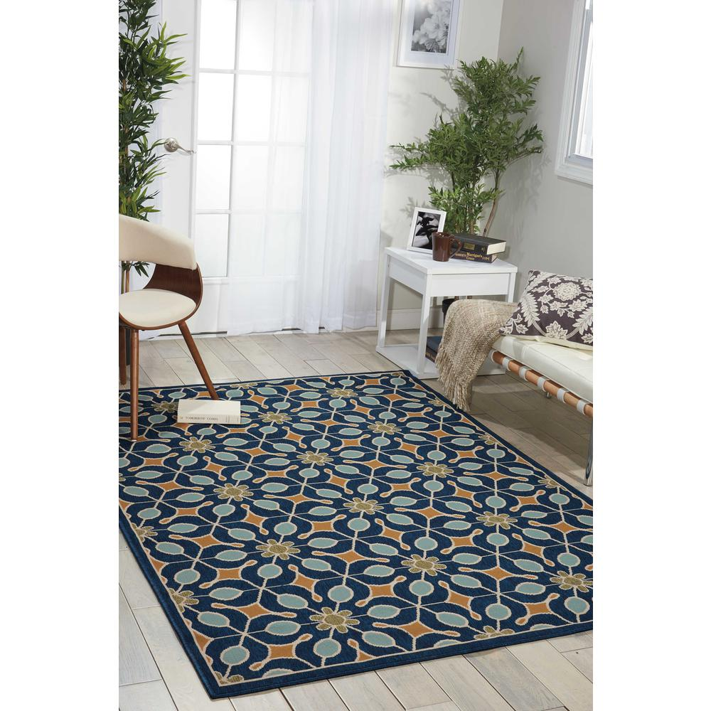 """Caribbean Area Rug, Navy, 2'6"""" x 4'. Picture 2"""