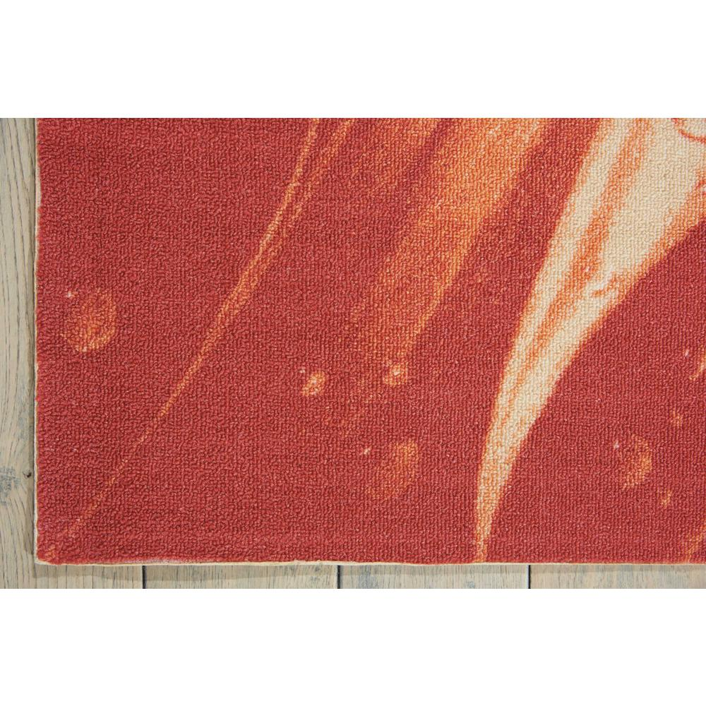 """Coastal Area Rug, Red, 5'3"""" x 7'5"""". Picture 5"""