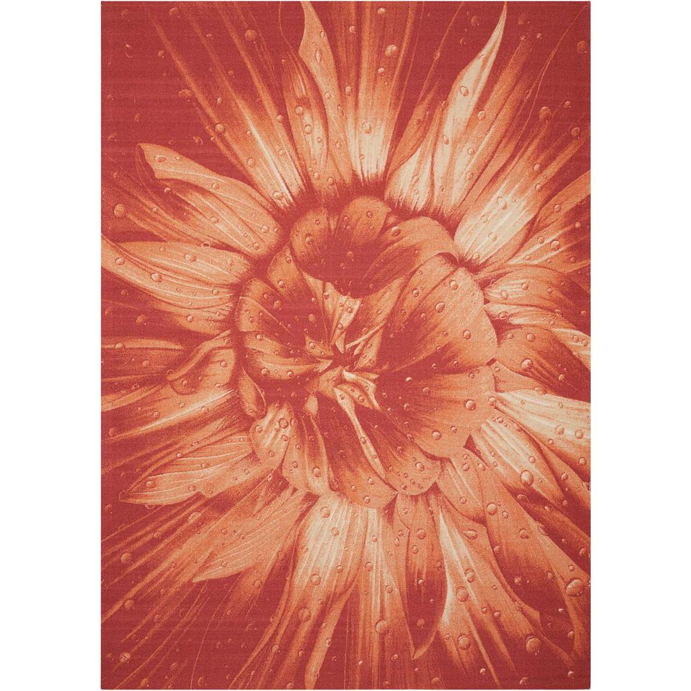 """Coastal Area Rug, Red, 5'3"""" x 7'5"""". Picture 1"""