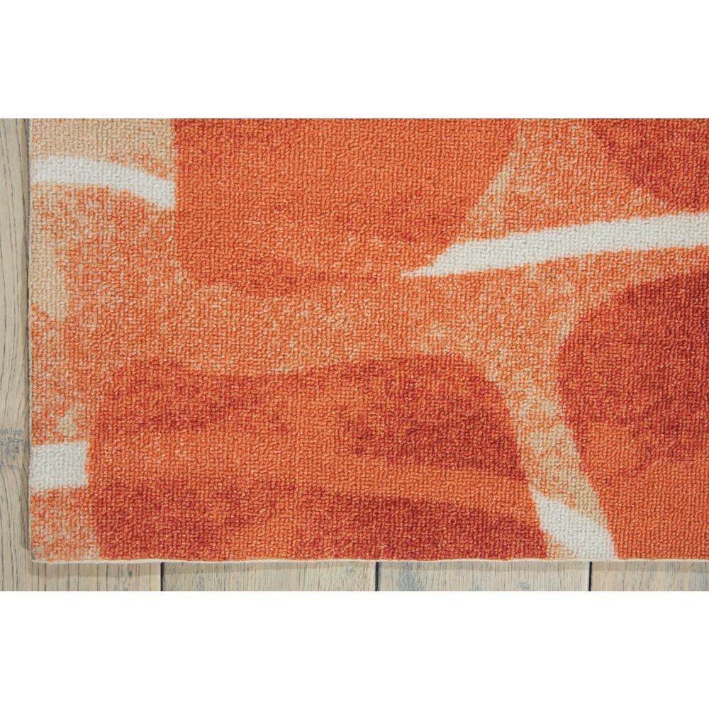 "Coastal Area Rug, Orange, 5'3"" x 7'5"". Picture 4"