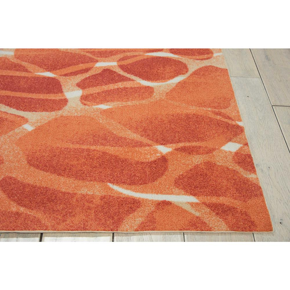 "Coastal Area Rug, Orange, 5'3"" x 7'5"". Picture 3"