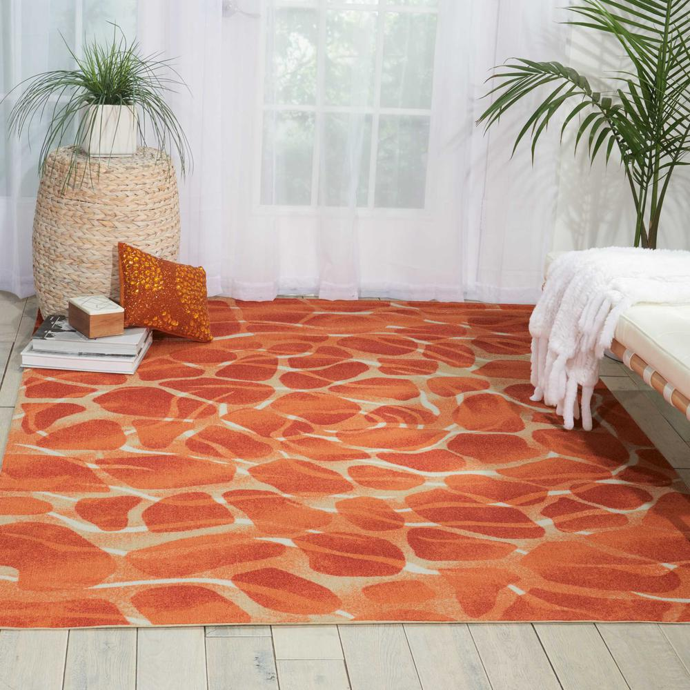 "Coastal Area Rug, Orange, 5'3"" x 7'5"". Picture 2"