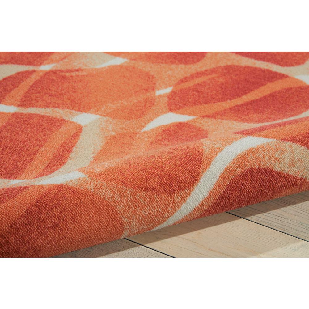 "Coastal Area Rug, Orange, 5'3"" x 7'5"". Picture 5"