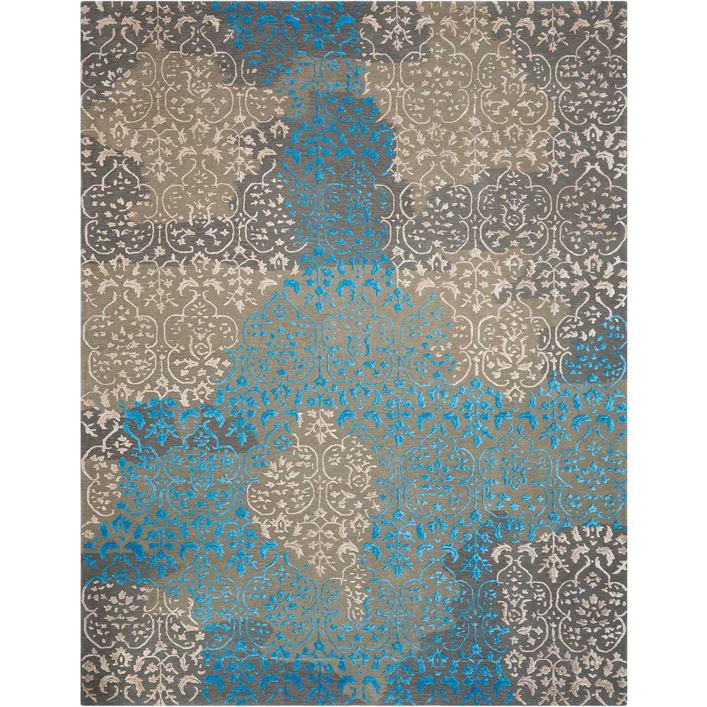Nourison Opaline Charcoal Area Rug. Picture 1