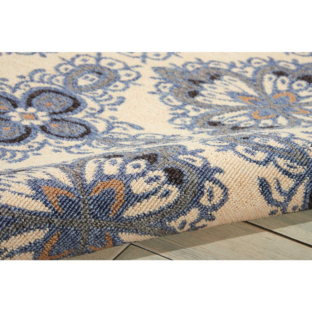 Nourison Caribbean Ivory Blue Indoor/Outdoor Area Rug. Picture 3